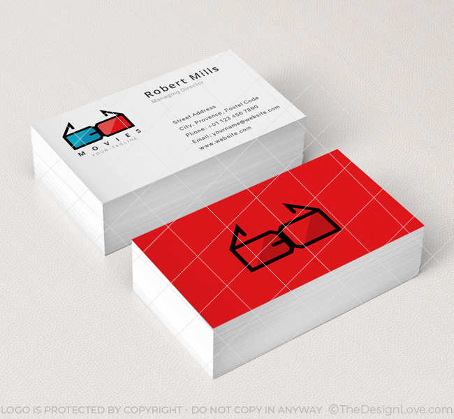 3d moves business card mockup - 3 D Business Card