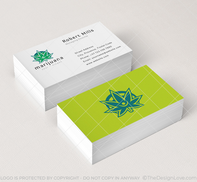 Marijuana leaf logo business card template the design love marijuana leaf logo business card template colourmoves