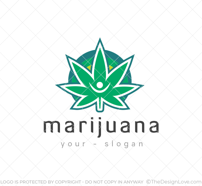 149 marijuana leaf logo template
