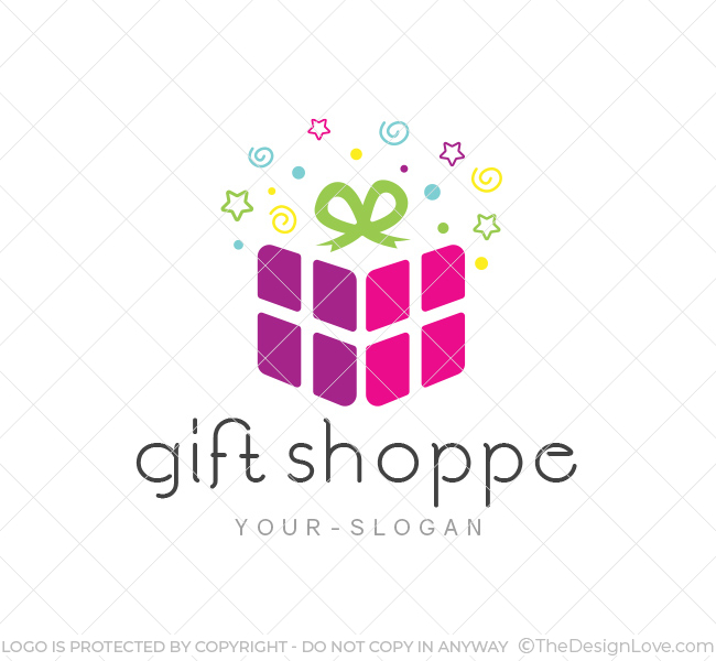Gift shop logo business card template the design love gift shop logo template reheart Gallery
