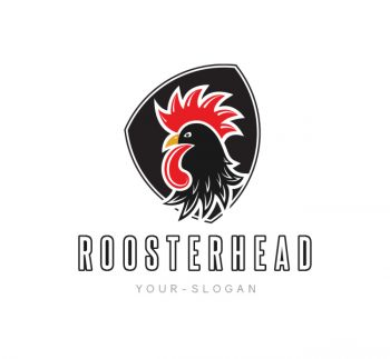 Rooster Head Logo & Business Card Template