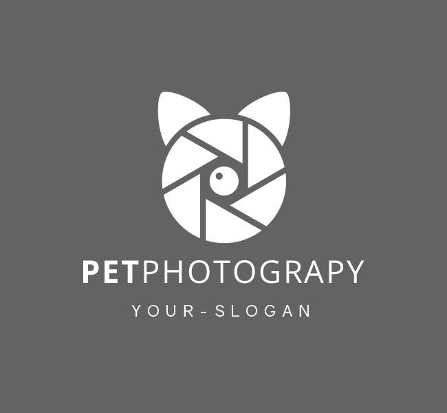 Pre-Made-Pet-Photographer-Logo-White