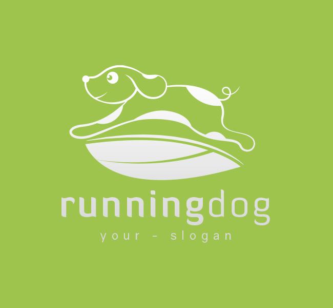 Pre-Made-Running-Dog-Logo-White