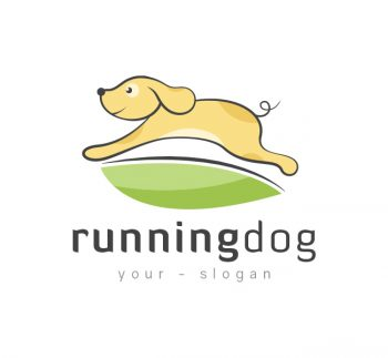 Running Dog Logo & Business Card Template