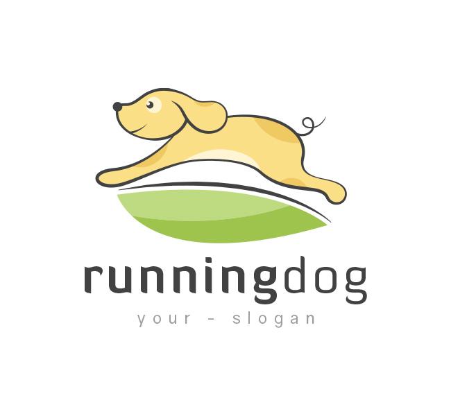 Running-Dog-Logo-Template
