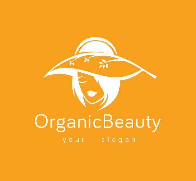 Pre-Made-Organic-Beauty-Logo-White