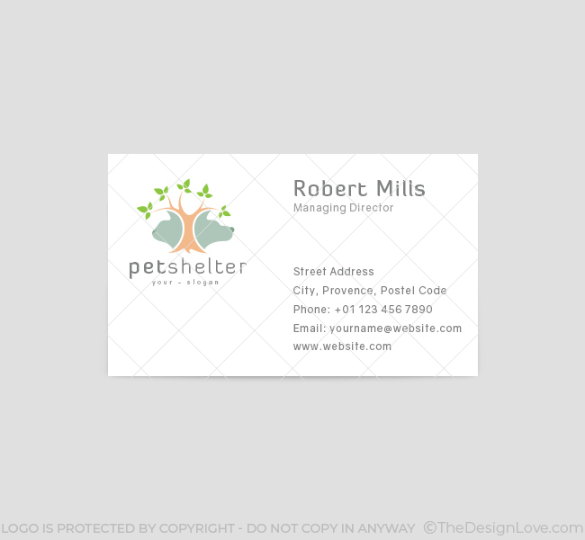 Pet Tree Logo  Business Card Template  The Design Love