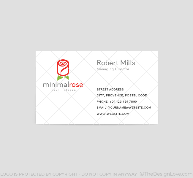 Minimal-Red-Rose-Business-Card-Template-Front
