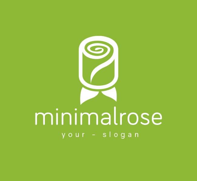 Pre-Made-Minimal-Red-Rose-Logo-White
