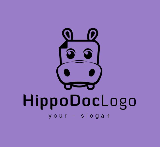 Ready-made-Logo-Hippo-Doc-Black