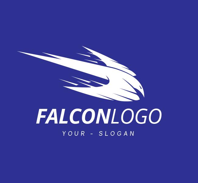 Pre-Made-Falcon-Logo-White