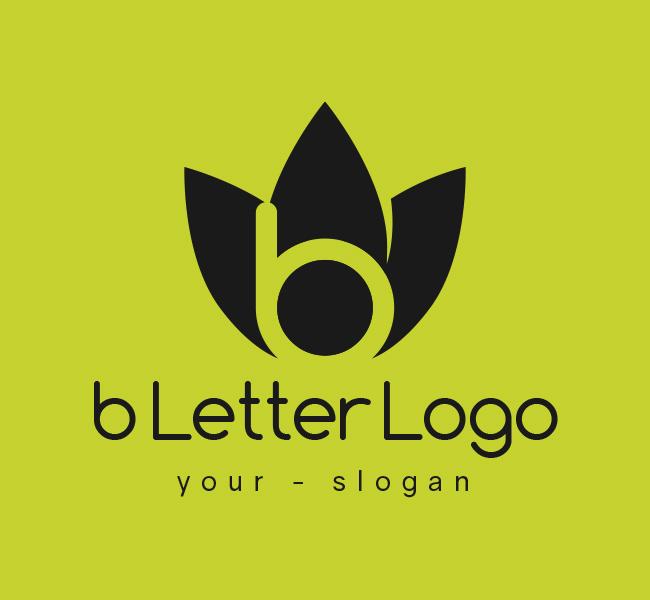 b Letter Logo & Business Card Template