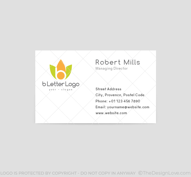 b Letter Logo & Business Card Template