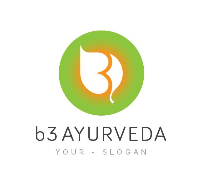 b3 ayurveda logo  u0026 business card template