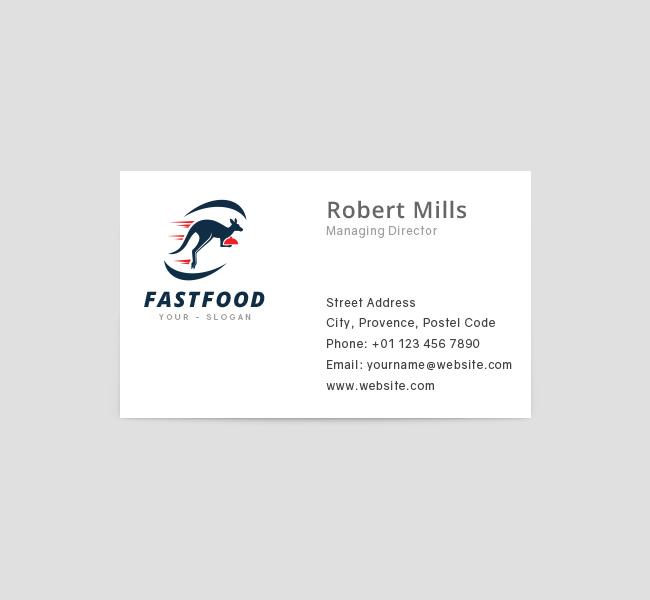 Kangaroo-Fast-Food-Business-Card-Template-Front