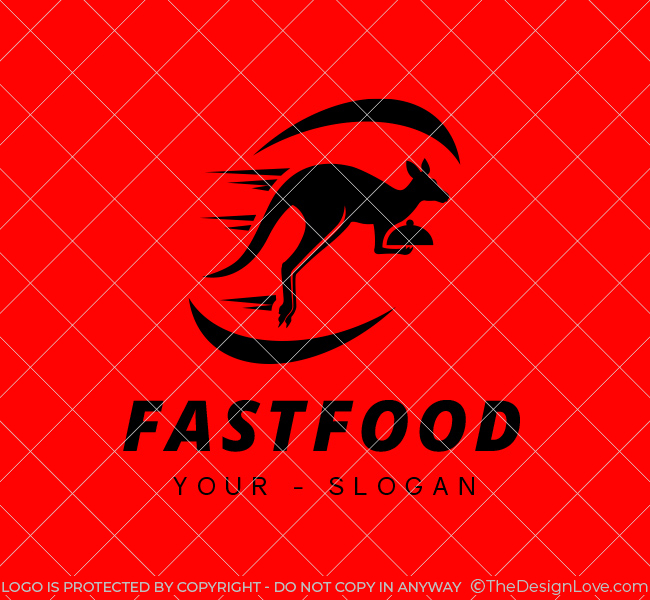 Ready-Logo-Kangaroo-Fast-Food-Black