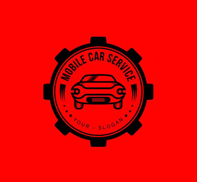 Ready-made-Logo-Mobile-Car-Service-Black