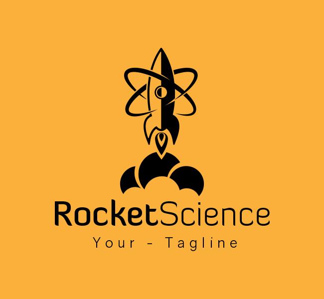 Ready-made-Logo-Rocket-Science-Black
