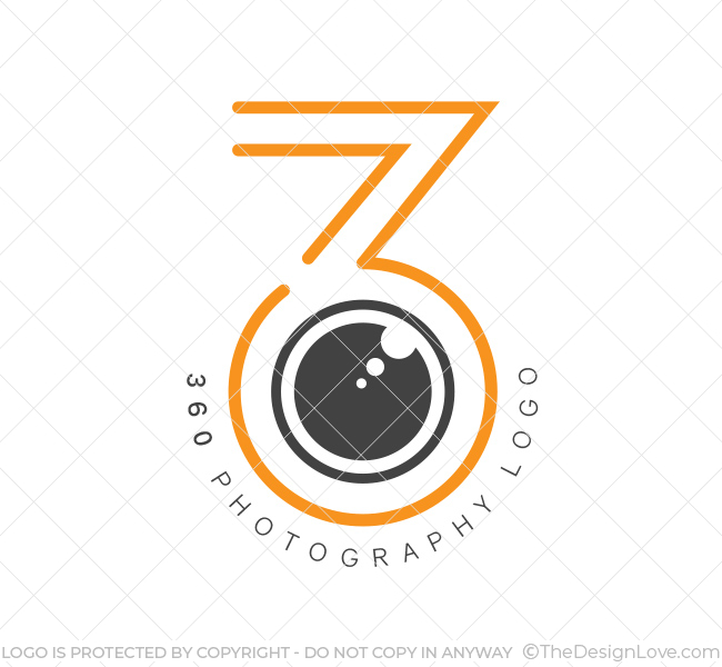 360 Virtual Photography Logo & Business Card Template - The Design Love