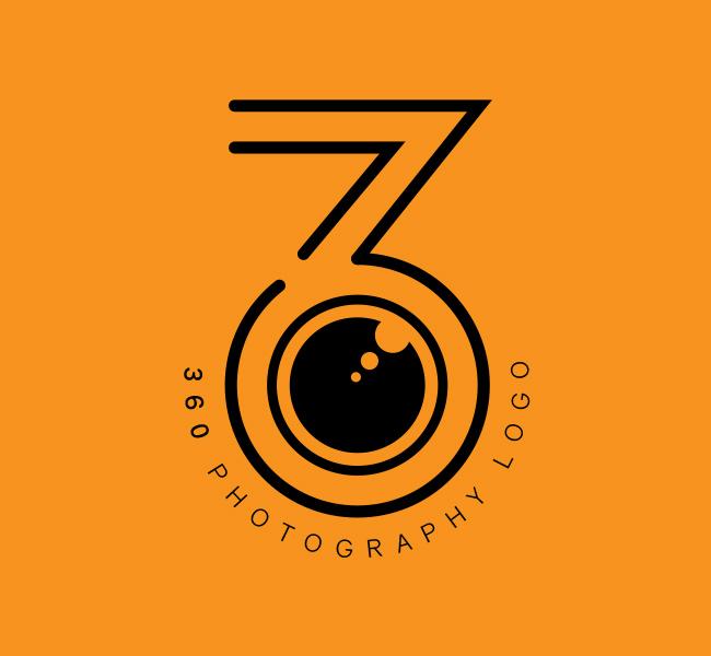 Ready-made-Logo-360-Photography-Black
