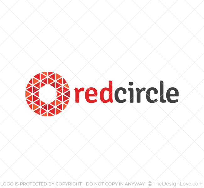 Red Circle Logo Amp Business Card Template The Design Love