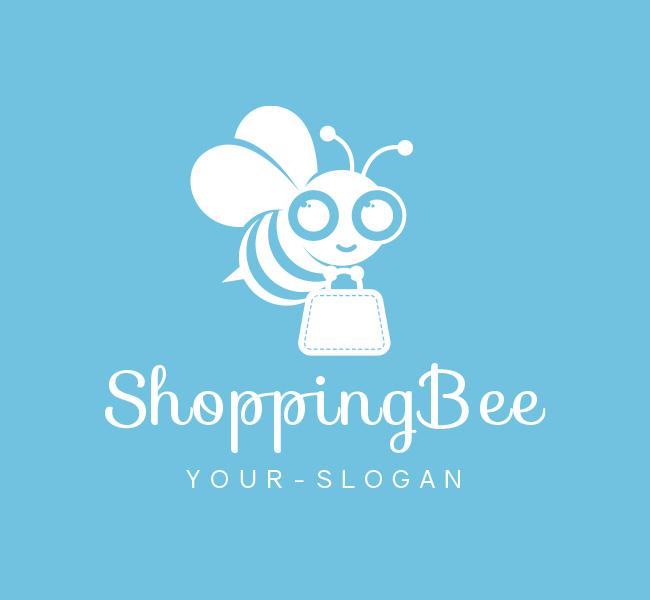 171-Pre-Designed-Logo-Shopping-Bee-White