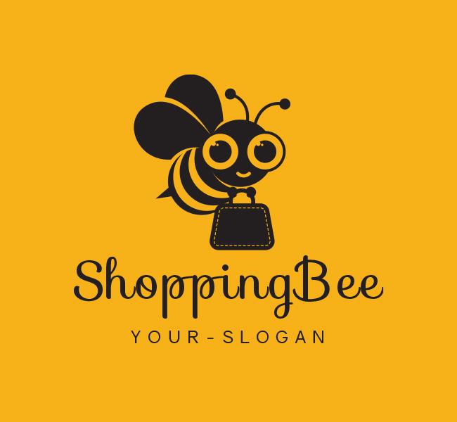 171-Ready-made-Logo-Shopping-Bee-Black