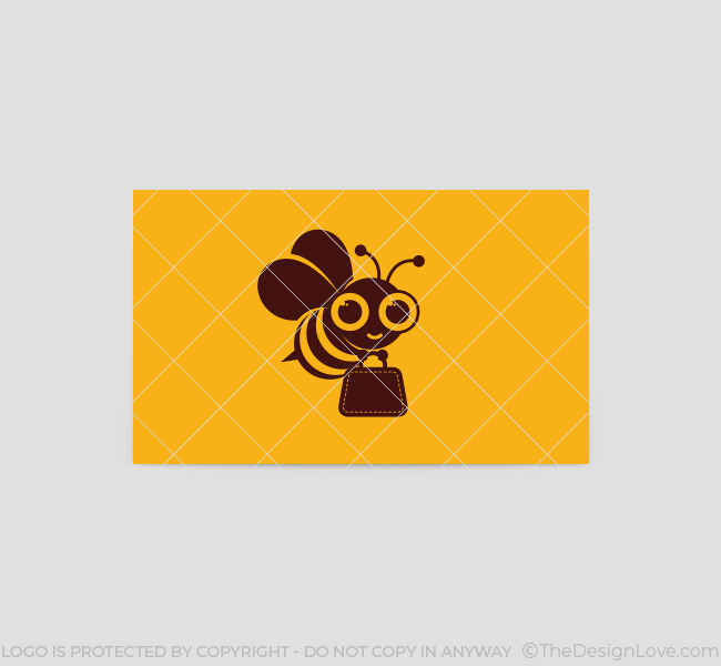 171-Shopping-Bee-Business-Card-Template-Back