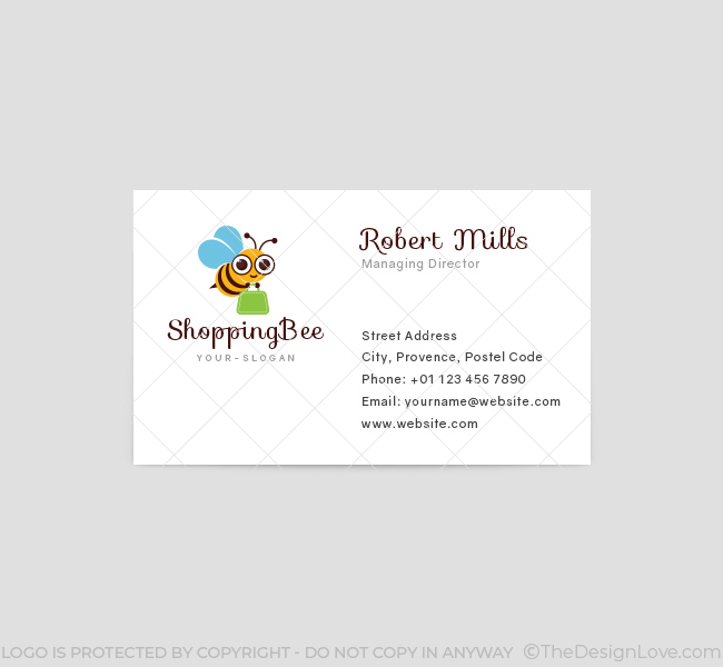 171-Shopping-Bee-Business-Card-Template-Front