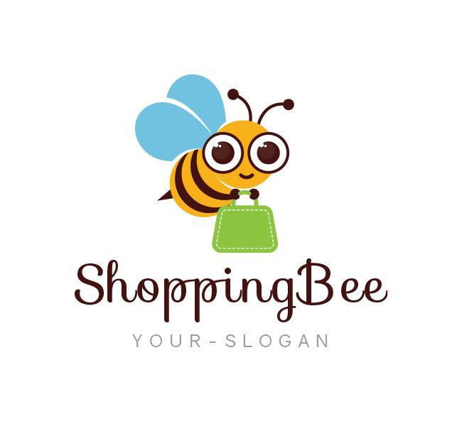 Shopping-Bee-Logo-Template