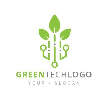 Green Tech Logo & Business Card Template