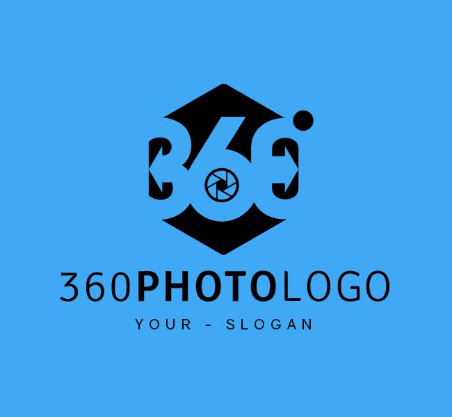 Ready-made-Logo-360-Photo-Black