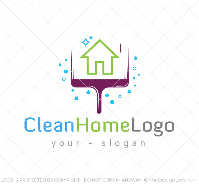 home cleaning logo business card template the design love rh thedesignlove com house cleaning logo templates house cleaning logo maker