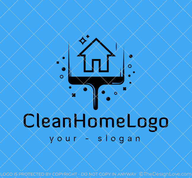 Ready-made-Logo-Home-Cleaning-Black