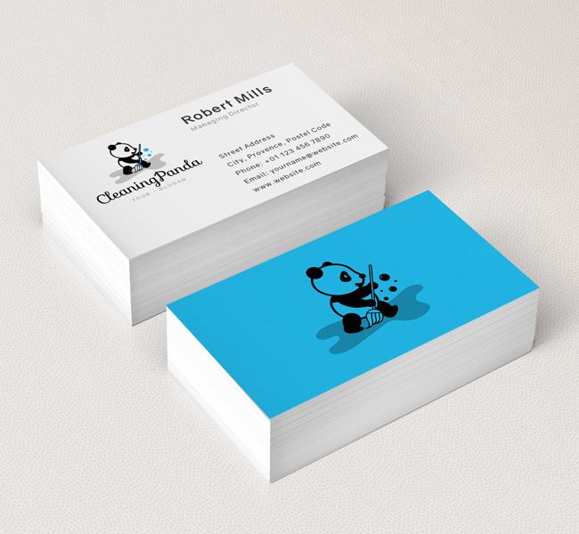 Cleaning-Panda-Business-Card-Mockup