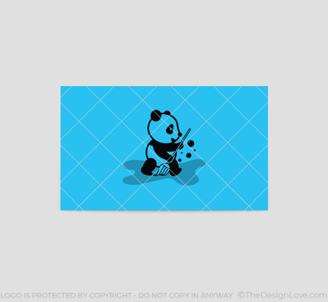 Cleaning-Panda-Business-Card-Template-Back