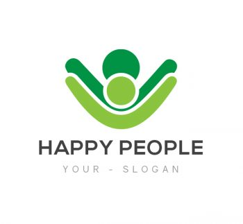 Happy People Logo & Business Card Template