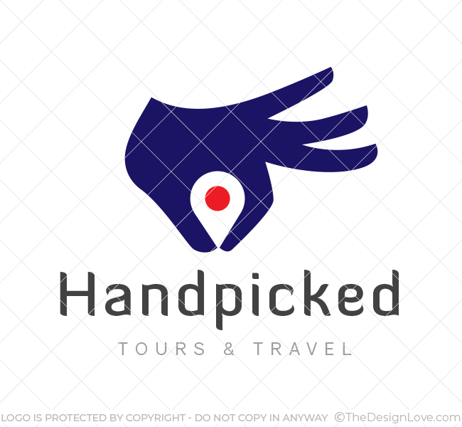 handpicked tours logo business card template the design love