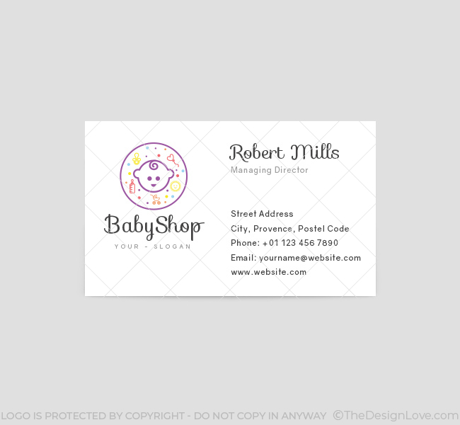 baby shop logo  u0026 business card template