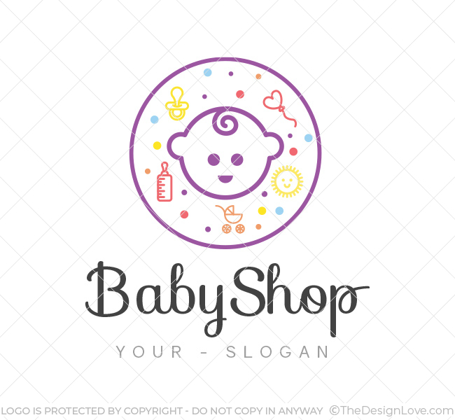 Baby Shop Logo Amp Business Card Template The Design Love