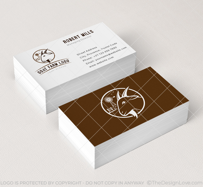Goat farm logo business card template the design love goat farm logo business card template colourmoves