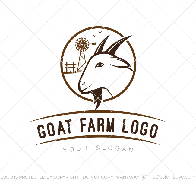 goat farm logo business card template the design love