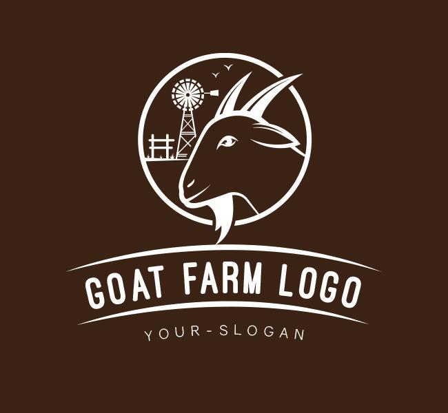 Pre-Designed-Logo-Goat-Farm-White