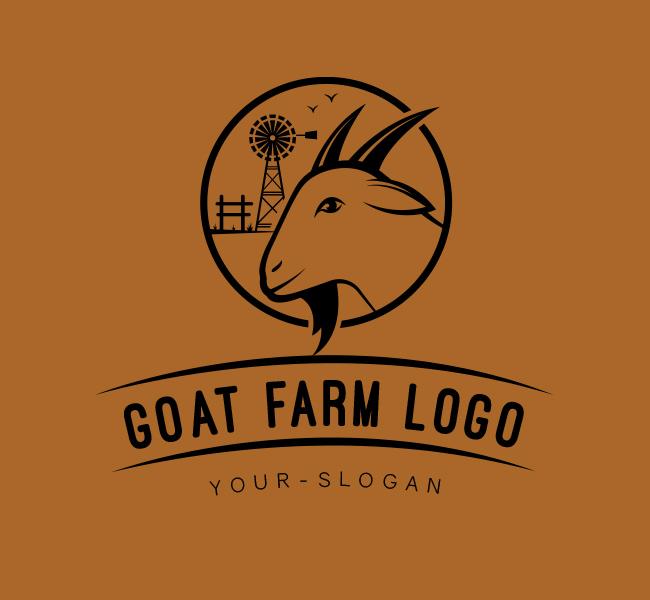 Ready-made-Logo-Goat-Farm-Black
