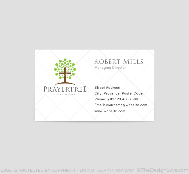 Prayer Tree Church Logo  Business Card Template  The Design Love