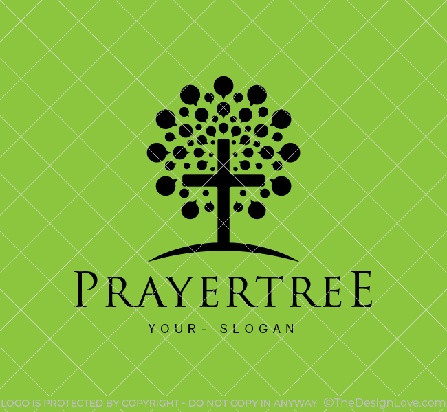 Ready-made-Logo-Prayer-Tree-Church-Black
