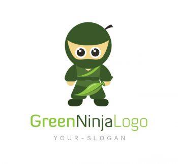 Green Ninja Logo & Business Card Template