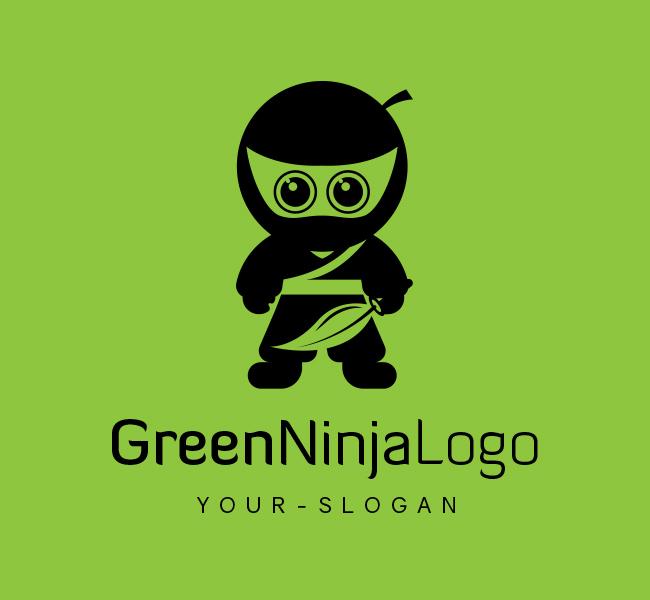 Ready-made-Logo-Green-Ninja-Black