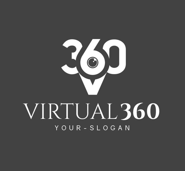 Pre-Designed-Logo-Virtual-360-Photography-White