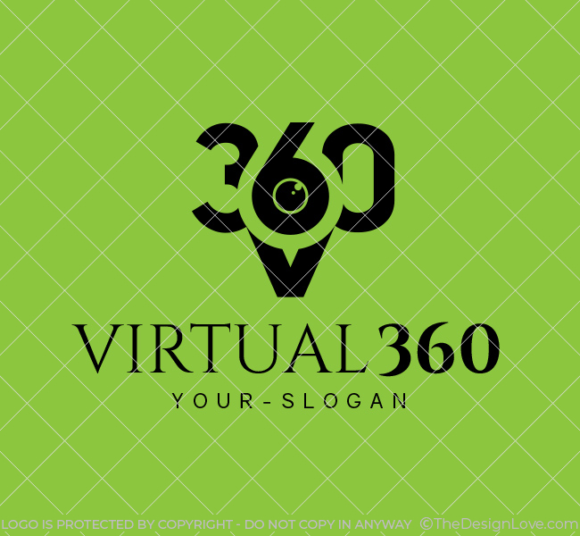Ready-made-Logo-Virtual-360-Photography-Black